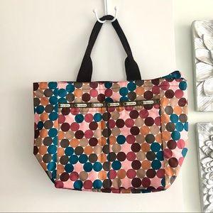 LESPORTSAC Circle Print Medium Tote Bag